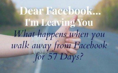 Dear Facbook, I'm Leaving You…